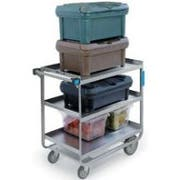 Lakeside Stainless Steel Heavy Duty NSF Traditional Utility Cart with 3 Shelves, 22 3/8 x 54 5/8 x 37 inch -- 1 each.