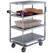 Lakeside Stainless Steel Heavy Duty NSF 4 Shelves Banquet Cart - 3 Shelf Edges Up and 1 Shelf Edge Down, 21 1/2 x 54 1/2 x 49 1/4 inch -- 1 each.
