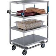 Lakeside Stainless Steel Heavy Duty NSF 6 Shelves Banquet Cart - All Shelf Edges Down, 21 1/2 x 54 1/2 x 54 5/8 inch -- 1 each.