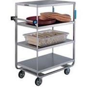 Lakeside Stainless Steel Heavy Duty NSF 6 Shelves Banquet Cart - 3 Shelf Edges Up and 1 Shelf Edge Down, 21 1/2 x 54 1/2 x 54 5/8 inch -- 1 each.