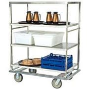 Lakeside Stainless Steel Tough Transport Queen Mary 6 Shelves Banquet Cart - All Shelf Edges Down, 30 3/4 x 67 x 65 3/4 inch -- 1 each.