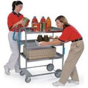 Lakeside Ergo One Series Heavy Duty Stainless Steel NSF Utility Cart with 3 Shelves, 18 5/8 x 35 3/8 x 46 3/4 inch -- 1 each.