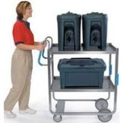 Lakeside Ergo One Series Heavy Duty Stainless Steel NSF Utility Cart with 2 Shelves, 21 5/8 x 57 3/16 x 46 3/4 inch -- 1 each.