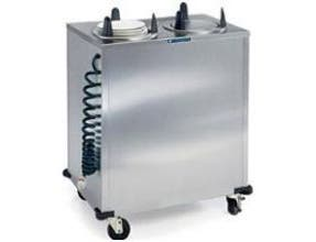 Lakeside Stainless Steel 2 Stack Heated Regular Round Plate Dispenser - Upto 5 inch Accommodate Plate Size -- 1 each.