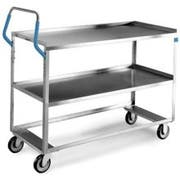 Lakeside Ergo One Stainless Steel Medium Duty Utility Cart with 2 Shelves, 22 x 53 1/8 x 44 3/8 inch -- 1 each.