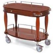 Lakeside Geneva Wood Veneer Bordeaux Serving Cart with 1 Shelf, 21 5/8 x 39 3/8 x 34 5/8 inch -- 1 each.