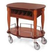 Lakeside Geneva Veneer Bordeaux Finish Serving Cart, 17 3/4 x 35 1/2 x 29 inch -- 1 each.