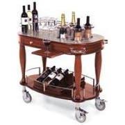 Lakeside Bordeaux Wood Veneer Wine/Liquor Serving Cart, 21 5/8 x 39 3/8 x 36 3/4 inch Overall Size -- 1 each.