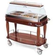 Lakeside Geneva Wood Bordeaux Veneer Hot Appetizer Cart, 21 5/8 x 43 3/8 x 49 1/4 inch -- 1 each.