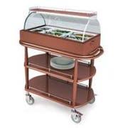 Lakeside Geneva Wood Spice Veneer Cool Appetizer Cart, 21 5/8 x 43/8 x 49 1/4 inch -- 1 each.