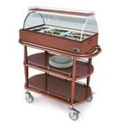Lakeside Geneva Wood Spice Veneer Hot Appetizer Cart, 21 5/8 x 43 3/8 x 49 7/8 inch -- 1 each.