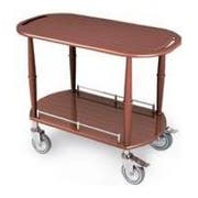 Lakeside Geneva Wood Veneer Spice 12 Shelf Serving Cart, 17 3/4 x 35 1/2 x 29 inch -- 1 each.
