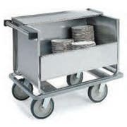 Lakeside Stainless Steel Store N Carry Enclosed Dish Cart with 1 Shelf, 32 x 21 x 31 1/2 inch -- 1 each.