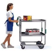 Lakeside Ergo One Series Stainless Steel Tough Transport Utility Cart with 2 Shelves, 21 5/8 x 41 3/8 x 46 3/4 inch -- 1 each.