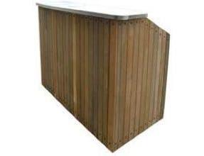Lakeside Geneva Chalet Stainless Steel Interior IPE Wood Finish Portable Bar, 8 Feet -- 1 each.