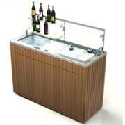 Lakeside Geneva Chalet Stainless Steel Body IPE Wood Finish Portable Back Bar, 8 Feet -- 1 each.