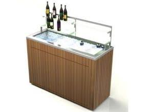Lakeside Geneva Chalet Stainless Steel Body IPE Wood Finish Portable Back Bar, 5 Feet -- 1 each.