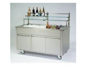 Lakeside Geneva Stainless Steel Body and Stainless Finish Portable Back Bar, 5 Feet -- 1 each.