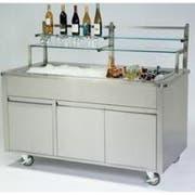 Lakeside Geneva Stainless Steel Body and Stainless Finish Portable Back Bar, 8 Feet -- 1 each.