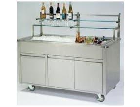 Lakeside Geneva Stainless Steel Body and Stainless Finish Portable Back Bar, 6 Feet -- 1 each.