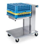 Lakeside Stainless Steel Single Platform Mobile Cantilever Tray and Rack Dispenser - Holds 6 Each 20 x 20 inch Rack -- 1 each.