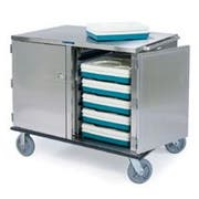 Lakeside Stainless Steel Premier Series 2 Compartment Low Profile Tray Delivery Cart, 28 Trays Capacity -- 1 each.