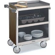 Lakeside Heavy Duty Stainless Steel with Laminate Finish Enclosed Cart - 3 Shelf Edges Up and 1 Shelf Edge Down, 22 1/2 x 39 5/16 x 37 inch -- 1 each.