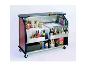 Lakeside Geneva Stainless Steel Interior with Laminate Exterior Finish Portable Bar, 40 Pound Ice Bin Capacity -- 1 each.