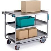 Lakeside Traditional Series Stainless Steel Tough Transport Traditional Utility Cart with 3 Shelves, 21 x 33 inch Shelf -- 1 each.