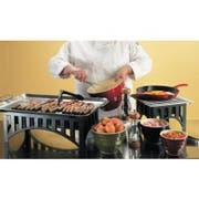 Cal Mil Stainless Steel Griddle Plate with Bracket Only, 20 x 13 3/4 x 2 1/4 inch -- 1 set.