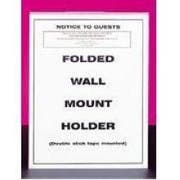 CalMil U-Style Wall Mount Holder, 8 1/2 x 11 inch -- 12 per case.
