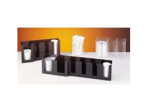CalMil Lid Organizer, Clear, 4 Section -- 1 each.