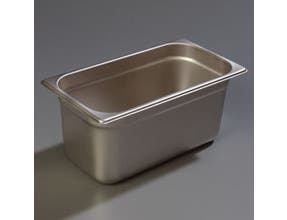 6 inch Depth DuraPan 18-8 Stainless Steel Heavy Gauge One Third Size Food Pan -- 6 per case