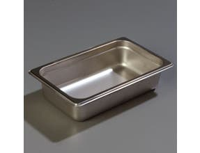 2.5 inch Depth DuraPan 18-8 Stainless Steel Heavy Gauge One Quarter Size Food Pan -- 6 per case