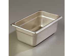 4 inch Depth DuraPan 18-8 Stainless Steel Heavy Gauge One Quarter Size Food Pan -- 6 per case
