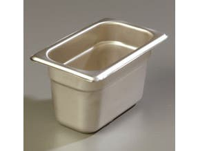 4 inch Depth DuraPan 18-8 Stainless Steel Heavy Gauge One Ninth Size Food Pan -- 6 per case