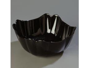 Black Orchid Scalloped Design Polycarbonate 3 Quart Deli Bowl 10 inch -- 12 per case