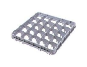 Soft Gray Cambro 36 Compartment Full Size Half Drop Stemware Extender Only, 19 5/8 x 19 5/8 x 2 inch -- 12 per case.