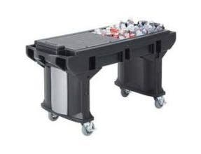 Cambro Black Standard Height Versa Work Table with Standard Caster, 69 x 27 x 36 1/4 inch -- 1 each.