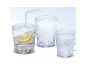 Dinex Clear Plastic Swirl Tumbler, 6 Ounce -- 72 per case.