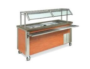 Dinex DineXpress Cold Food Counter NSF7 - 3 Well, 49 x 30 x 36 inch -- 1 each.