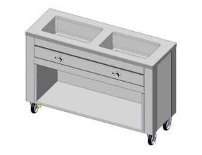 Dinex DineXpress Slim Line Hot Food Specialty Counter - 3 Well, 77 x 19 x 36 inch -- 1 each.