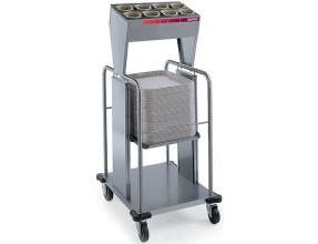 Dinex Shelf Style Single Stack Tray and Silverware Dispenser, 23.19 x 20.69 x 52.63 inch -- 1 each.