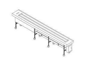 Dinex Band Belt Conveyor - 8 Foot Section -- 1 each.