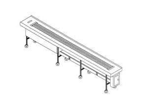 Dinex Slat Belt Conveyor - 16 Foot Section -- 1 each.