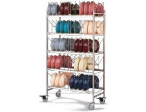 Dinex Stainless Steel Dome Storage Mobile Rack, 40 x 20.25 x 73 inch -- 1 each.