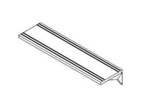 Dinex Solid Ribbed Tray Slide Only for 5 Well DineXpress Counter -- 1 each.
