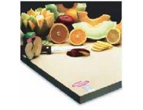 Teknor Apex Sani-Tuff Rubber Cutting Board, 8 x 8 x 1/2 inch -- 12 per case