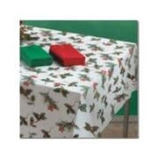 Hoffmaster Linen Like Winterberries Tablecover, 50 x 108 inch -- 24 per case.