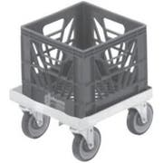 Channel Manufacturing Aluminum Milk Crate Dolly, 7 1/2 x 14 1/4 x 20 1/4 inch -- 1 each.